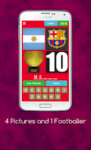 4 Pics 1 Footballer Quiz Game - náhled