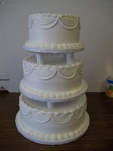 Photo: Classic 3-Tier Buttercream with buttercream Swags