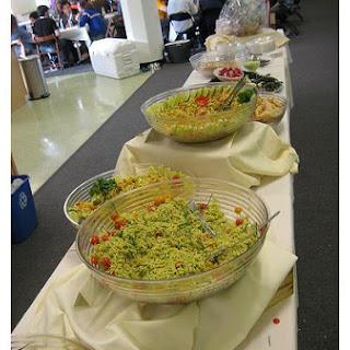 Cold Pasta Seafood Salad.