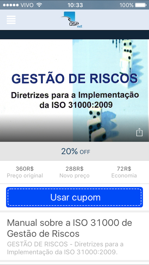 ISO 9001:2015 et al.- screenshot