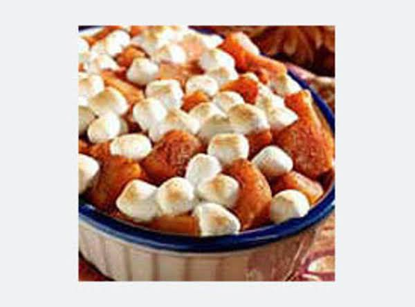 Mallow Mallow Topped Sweet Potaoes Recipe