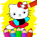 Drawing and Coloring Book Game - Drawing Art icon