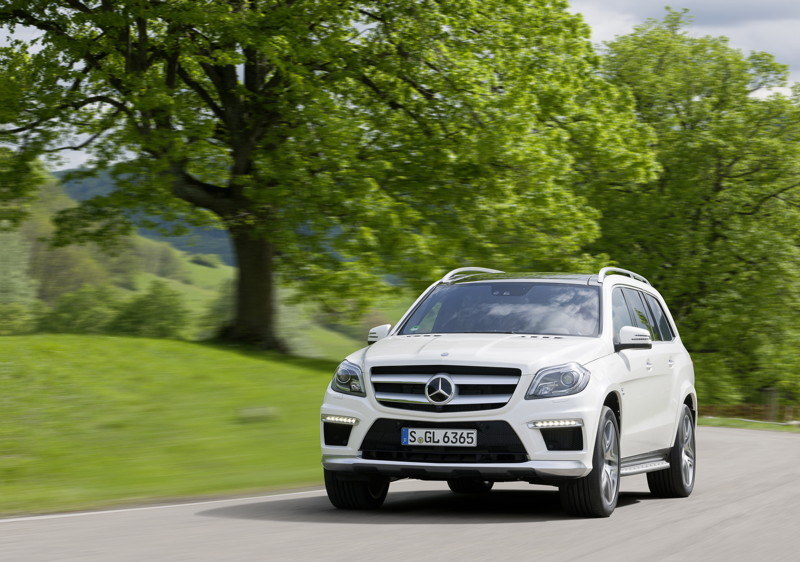 "Photo: GL 63 AMG. Fuel consumption combined: 12.3 l/100 km, CO2 emissions combined: 288 (g/km). The data do not relate to an individual vehicle and do not form part of the offer; they are provided solely for the purposes of comparison between different types of vehicles. The figures are provided in accordance with the German regulation ""PKW-EnVKV"" and apply to the German market only."