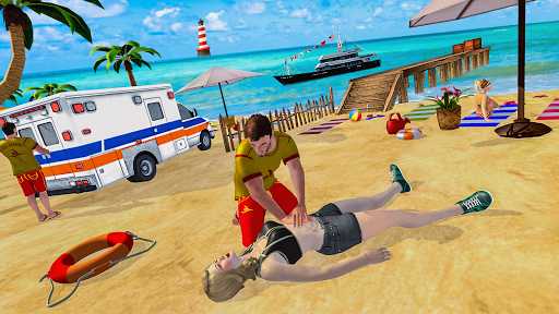 Beach Rescue Coast Lifeguard Rescue Duty screenshots 2