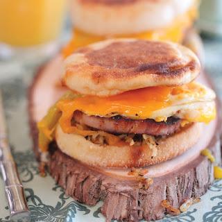Ham & Cheddar Green Chili Breakfast Sandwich