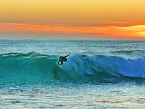 Photo: Nothing like a little surfing at the end of the day...