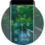 Natural green forest lock theme Icon
