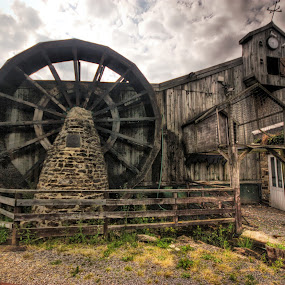 Waterwheel by BethSheba Ashe - Buildings & Architecture Other Interior ( mill, old, waterwheel )