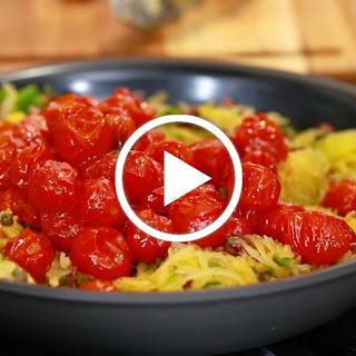 Spaghetti Squash Puttanesca.
