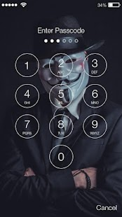 AnonimousMask Lock Screen - náhled