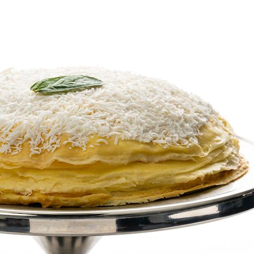 "Coconut Mango Mille-Crêpe Cake (9.5"" Whole Cake)"