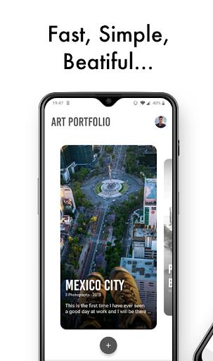 Art Portfolio: Create and download your portfolios screenshot 1