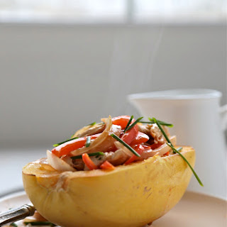 Red Curry Chicken Spaghetti Squash Bowls