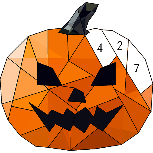 Halloween Poly Art: Color by Number, Coloring Book Icon