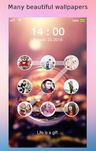 lock screen photo pattern screenshot 1