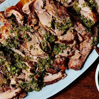 Slow Cooker Pork Shoulder With Zesty Basil Sauce