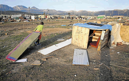 Kukithila showed the Thekiso children who lost both parents at an early age and were made to live in a shack while their uncle and aunt took their house.