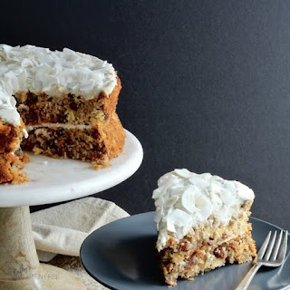 Carrot Cake with Pineapple and Coconut.