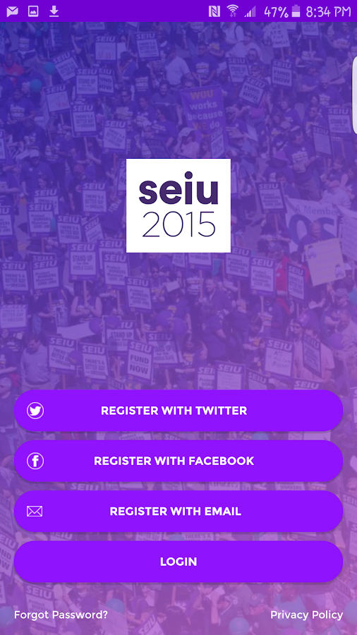 SEIU Local 2015- screenshot