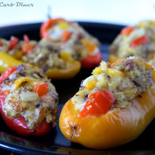 """Omelet"" Stuffed Mini Peppers"
