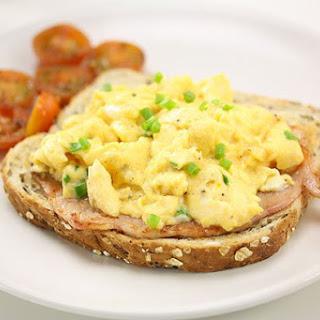 Scrambled Eggs Bacon & Tomato