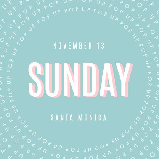 Sunday Popup - Instagram Post Template