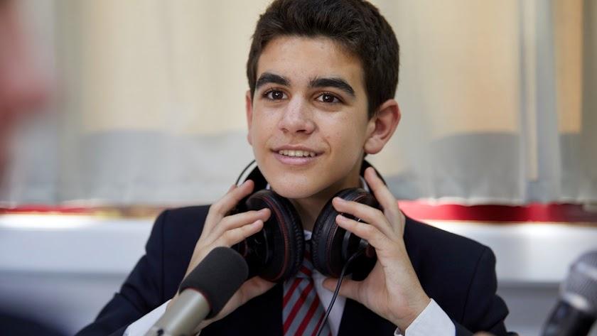 Antonio Palomino, el estudiante de la nota de récord.
