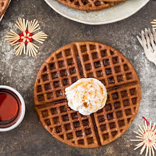 Gingerbread Waffles With Maple Cream (Gluten Free).
