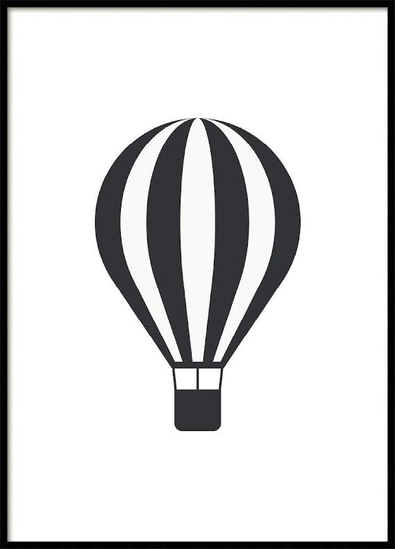 Hot air balloon Kids poster