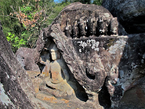 Photo: remnants of age-old Buddhist rock art