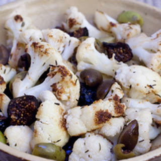 Sauteed Cauliflower With Olives and Figs.