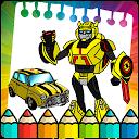 Robot Transform coloring pages APK