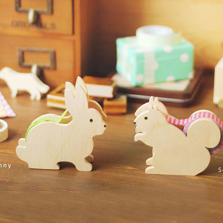 bunny squirrel tape dispenser by Pipit Zakka Store