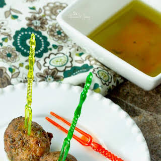 Easy Olive Tapenade Cocktail Party Meatballs.