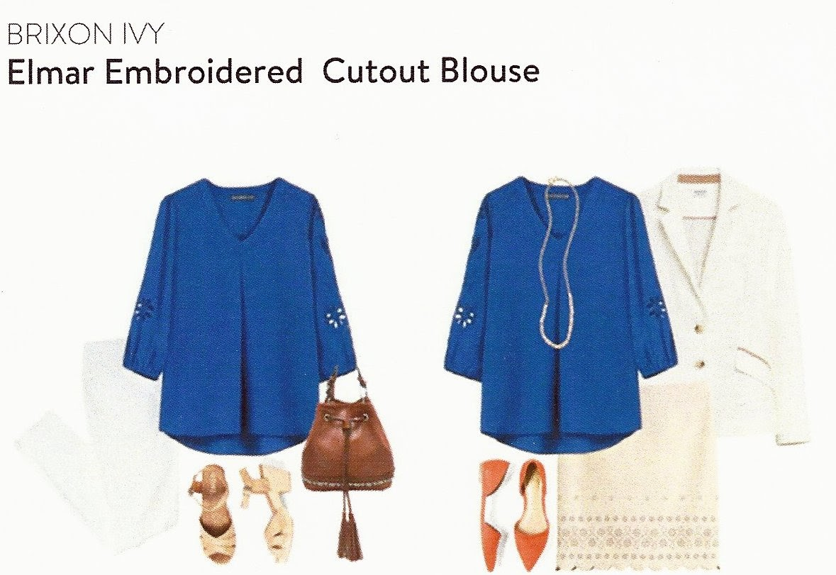 September Stitch Fix Box, Brixon Ivy Elmar Embroidered Cutout Blouse