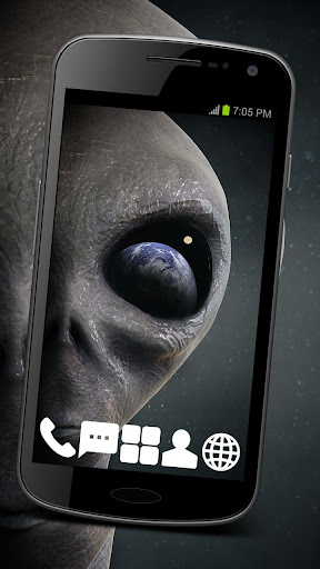 Alien UFO Theme GO ADW APEX