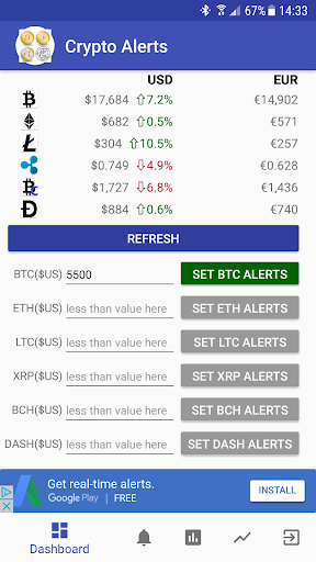 Bitcoin Monitor - BTC Price Alert  screenshots 1
