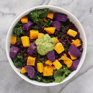 Pumpkin Seed Pesto Coconut Black Rice Superfood Bowl (Vegan & GF) Recipe