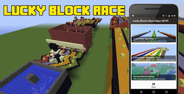 Lucky Block Race Map MCPE Apps On Google Play - Maps fur minecraft runterladen