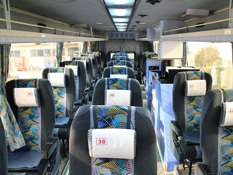 阪急バス「よさこい号」昼行便 2891 車内