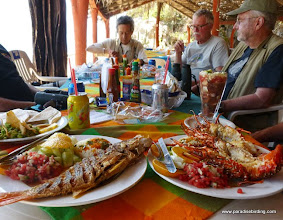 Photo: FRESH seafood -- rockfish and lobster -- at Conde's, Tehuamixtle