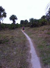 Photo: Jen and I running in Caloosahatchee State Park. It wasn't flat!