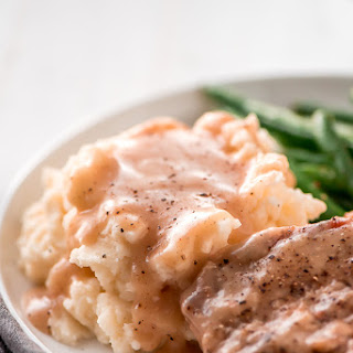Slow Cooker Pork Chops and Gravy.