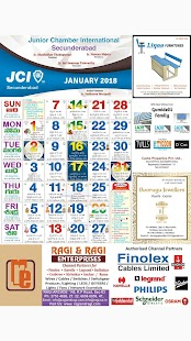 JCI Secunderabad Calendar 2018 - náhled