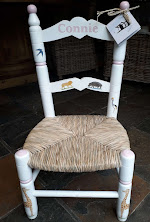 Large Children's Chair with Connie written on it