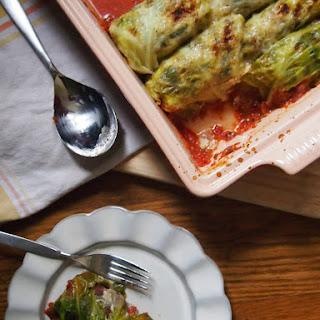 Cabbage Stuffed with Potatoes and Ricotta