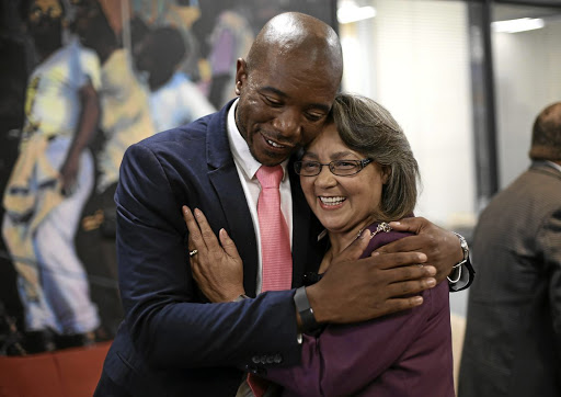 DA leader Mmusi Maimane and Patricia de Lille in 2016. Picture: ESA ALEXANDER