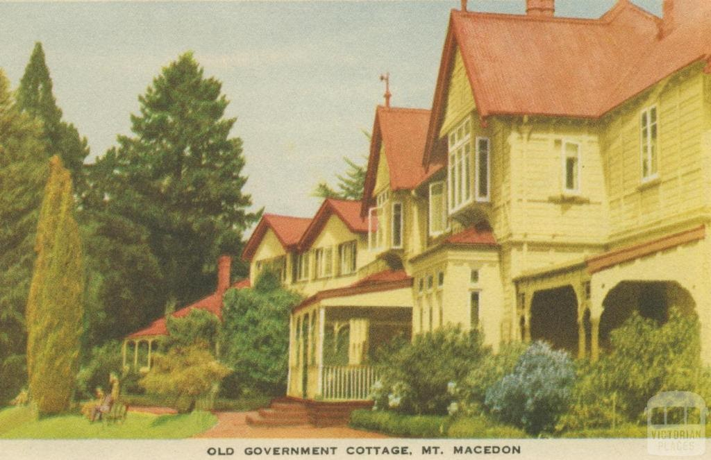Old Government Cottage, Mount Macedon, 1955 before the fire.