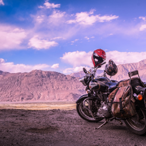Royal Enfield by Ananth Eswar - Transportation Motorcycles ( leh, mountains, bike, royal enfield, journey, india, ladakh, himalayas )
