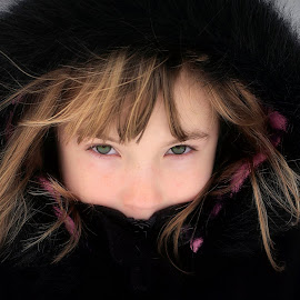 by Sandy Considine - Babies & Children Child Portraits ( black hat, young girl, black coat )